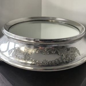 "1930`s Silver Plated Wedding Cake Stand 11"" Lancashire Vintage China Hire"