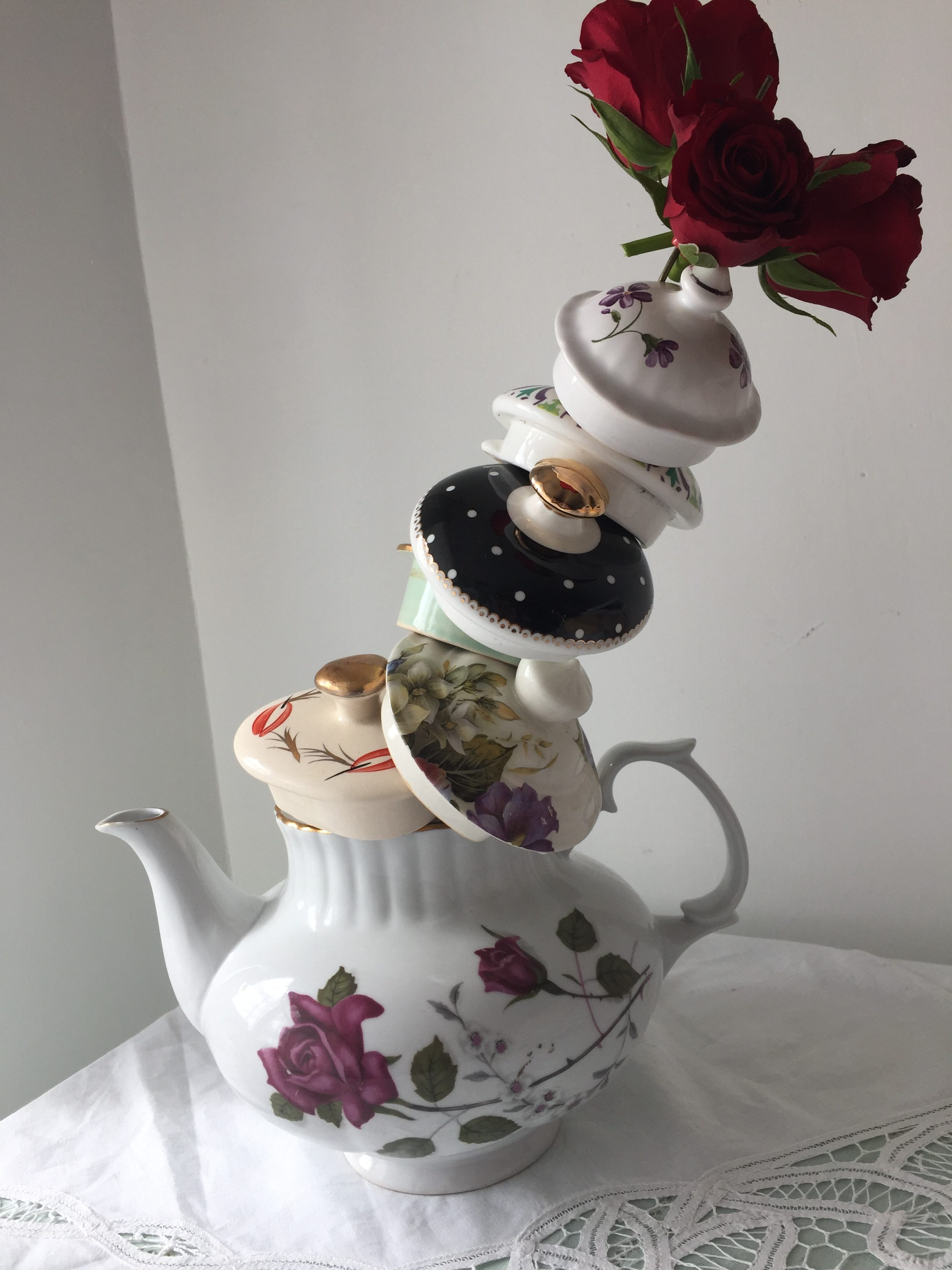 Mad Hatter Teapot Lancashire Vintage China Hire Exclusive