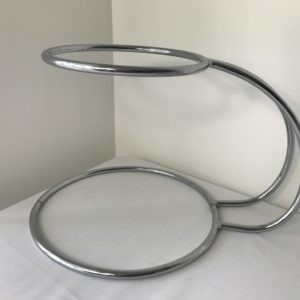 Two Tier Loop Cake Stand hire