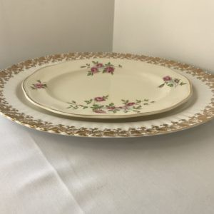 "Vintage Oval Serving Plates 9-16"" Hire"